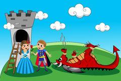 Prins redt prinses